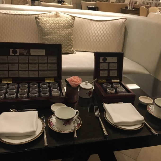 the tea options