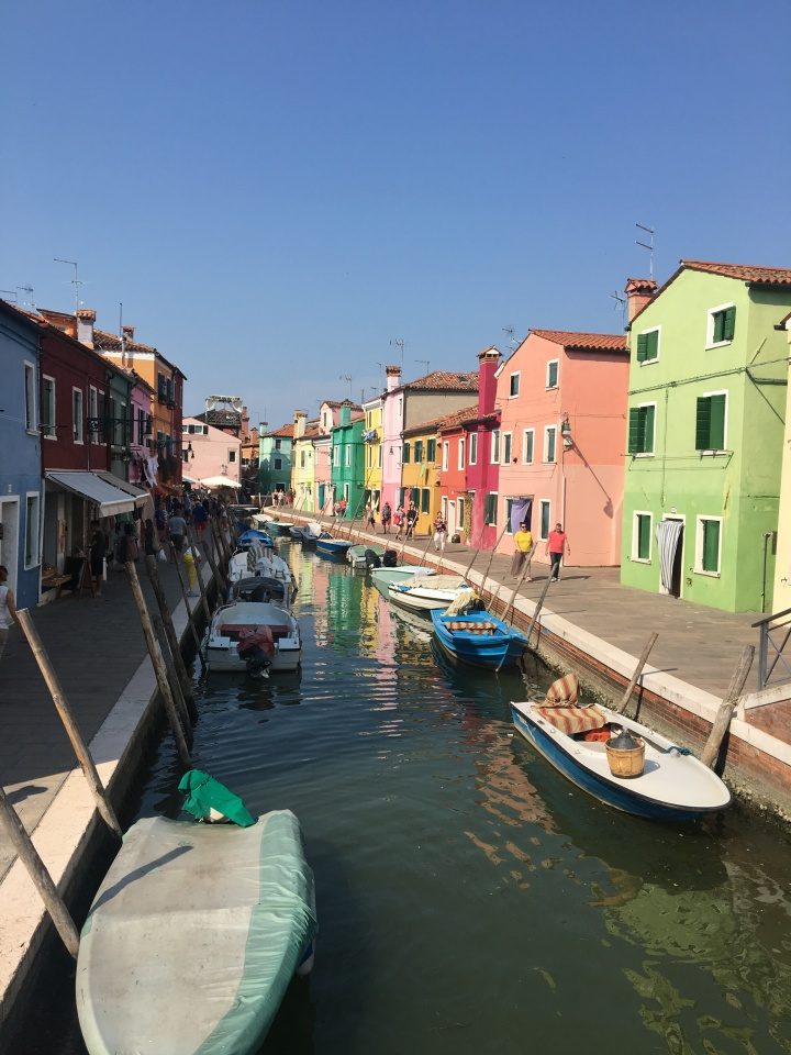 Venice Week 3: Scuola & Squid Ink, and Burano & Bellinis