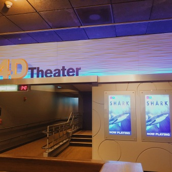 The tiny movie theater where we saw Sharks