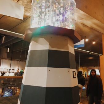 cool lighthouse with refracting lights