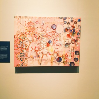 In the mental health exhibit, there were pieces of artwork representing different mental states. I believe this is Hope.